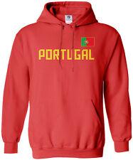 Threadrock Men's Portugal National Team Hoodie Sweatshirt Portuguese Flag