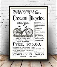 Crescent Bicicletas, Vintage ciclo Publicidad reproducción Poster, Arte De Pared.