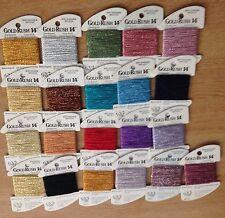 Gold Rush 14 embroidery metallic thread cross stitch needlepoint fiber washable