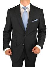 Signature Italian Wool Silk Mens Suit Black