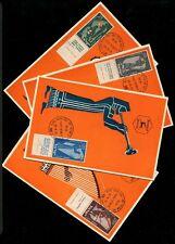 Israel 100-103, Musical Instruments, New Year 5716, Simon's, Maxi Maximum Card