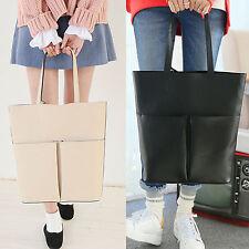 Korea Stylish Fashion Women M 2 Pocket Shoulder Bag Tote Handbag Girls Moms New