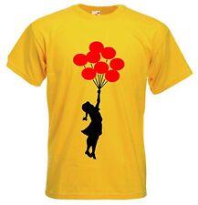 BANKSY BALLOON GIRL T-SHIRT - Balloons - Choice Of Colours - Size S to XXXL
