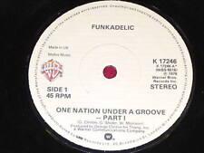 "7"" SINGLE - ONE NATION UNDER A GROOVE - FUNKADELIC - WB K 17246"