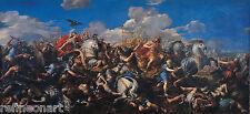 Pietro da Cortona - Battle of Alexander versus Darius Giclee Canvas Print