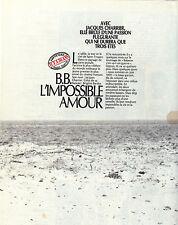 COUPURE DE PRESSE 1989 BRIGITTE BARDOT L'Impossible Amour avec Jacques Charrier