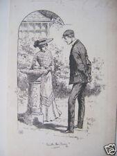 Illustrazione con il ring Sundial h.m.lewis INCHIOSTRO c1893