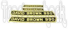 David Brown TRATTORE 990 implematic Cofano Decalcomanie