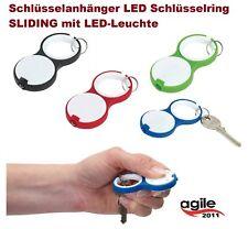 10 x Schlüsselanhänger LED Schlüsselring mit LED-Leuchte Sonderposten Restposten