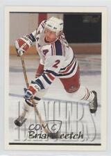 1995-96 Topps #75 Brian Leetch New York Rangers Hockey Card