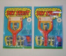 Vintage 1970's Sling Shot Sky Shoot Paratrooper - 2 pc