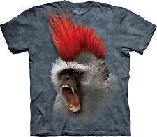 La Montaña Punky Monkey kids/boys/child / Chicas t-shirt/top, primate/biker/rock