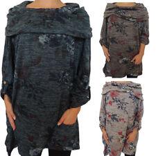 Tunika mit Seitentasche Größe 48, 50, 52, 54, 56 Schön lang Tuniken Damen Größen
