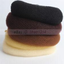"US Ship _ Unisex Hair Nets Invisible Elastic Edge Snood Bun Nets Cotton 20"" 50cm"