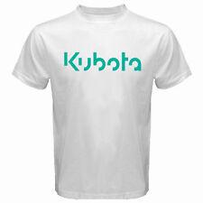 New Kubota Tractor Green Logo Men's White T-Shirt Size S-3XL