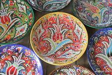 Intricate Turkish ceramic plates - 25cm,handmade, hand painted Ottoman designs
