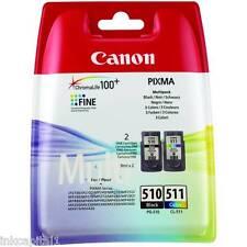 Canon PG-510 e CL-511, PG510, CL511 ORIGINAL OEM Pixma CARTUCCE A GETTO D'INCHIOSTRO