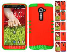 KoolKase Hybrid Silicone Cover Case for LG G2 - Neon Orange (FL)