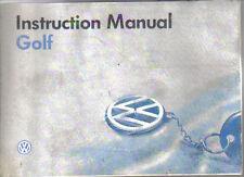 VW Volkswagen Golf Mk 3 1994-95 Original Instruction Manual (Handbook) GTi VR6