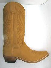 Sendra 2605 Unisex Cowboy Boots Tan Nubuck Leather Western Biker Handmade