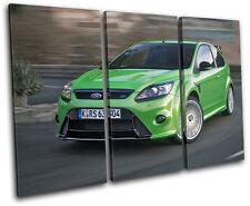 Ford Focus RS Cars TREBLE DOEK WALL ART foto afdrukken