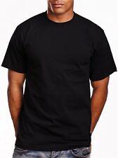 Men's PRO 5 Pro5 Short Sleeve Round Neck Plain T-Shirts Heavy Weight