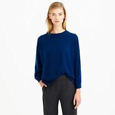 NWT $165 Designer J.CREW Wool Sweater JUMPER Royal Blue  Red  XS - XXL