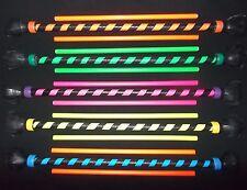 Rainbow Dragon UV Supergrip Flowersticks Set + Silicon Handsticks -Flower Sticks