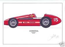 Fangio ltd.ed.signed art print - 1951 Ferrari Tipo 500