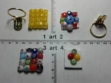 1 Ferma foulard vetri murrine murano glass klips Schal anello à l'écharpe a1