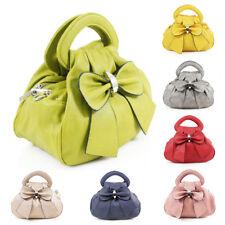 Women's Ladies Bow Ribbon Design Crossbody Handbag Messenger Shoulder Grab Bag