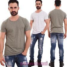 Suéter de hombre camiseta algodón casual estampado mezze mangas nueva 1517-MOD