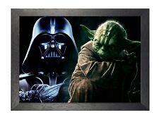 Star Wars 2 Yoda Darth Vader Epic Cine Clásico Foto Película Estampado A4 A3