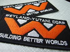 Alien / Aliens / Aliens 3 Weyland Yutani Corp- 2 Ricamato Termoadesivo Patches