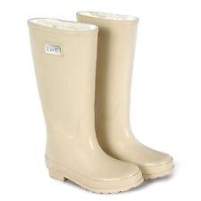 Wellington Boots with Merino Sheepskin Lining - Cream