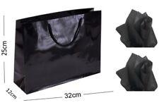NOIR BRILLANT Paysage boutique magasin Sac cadeau gloss & assortis tissu