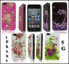 Nouvelle série floral élégant Dur Coque Arrière Pour Apple I Téléphone 5 5g