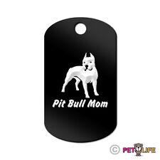 Pit Bull Mom Engraved Keychain GI Tag dog APBT Many Colors