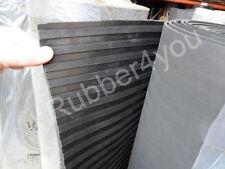 Black BROAD Wide Ribbed Trailer Ramp Horsebox Rubber Flooring Matting 1.5m x 5mm