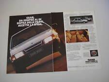 advertising Pubblicità 1985 SAAB 9000 TURBO 16