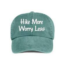 Hike More Worry Less VINYL PRINT Hiker Hiking Outdoors Baseball Style Cap Hat