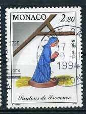 MONACO - yvert 1914 Santon, Noêl, Vierge Marie oblitéré