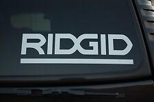 "Ridgid Sticker Vinyl Decal Tool Box Truck Gun Safe Car Choose Size 4"" To24"" V429"