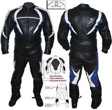 BLACK TSUNAMI MENS CE ARMOUR MOTORBIKE / MOTORCYCLE LEATHER JACKET & SUIT