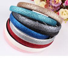 Wowen Plastic Hair Accessories Glitter Powder Covered Hairband Headband LACA