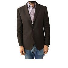 MICHELANGELO chaqueta de hombre sin forro marrón oscuro 100% lana HECHO EN
