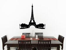 Eiffel Toalla Salón Cocina habitación adhesivo para dormitorio pared imagen 1