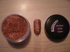 Glitteratti 23 Copper Glitter Pre-Mixed Acrylic Powder OPI NSI Nail Art