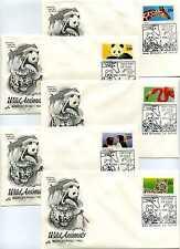 2705-09 Wild Animals, set of 5, ArtCraft, FDCs