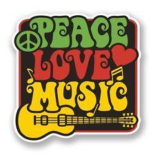 2 X la paz Amor Música Pegatina de vinilo Laptop Viaje Equipaje Coche #5943